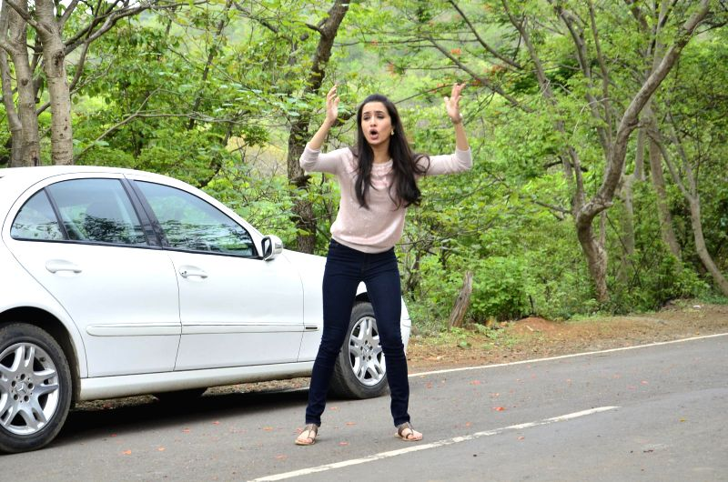 Actor Shraddha Kapoor during the on location shoot of television serial CID to promote her upcoming film Ek Villian in Mumbai on June 23, 2014. - Shraddha Kapoor