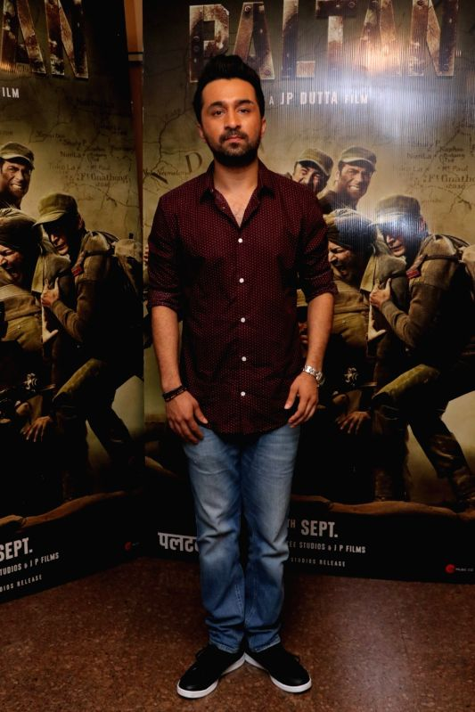 "Actor Siddhanth Kapoor during the promotion of his upcoming film ""Paltan"" in Mumbai on Aug 10, 2018. - Siddhanth Kapoor"