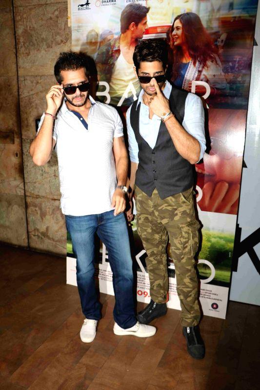 Actor Sidharth Malhotra and filmmaker Ritesh Sidhwani during the trailer launch of film Baar Baar Dekho in Mumbai, on Aug 2, 2016. - Sidharth Malhotra
