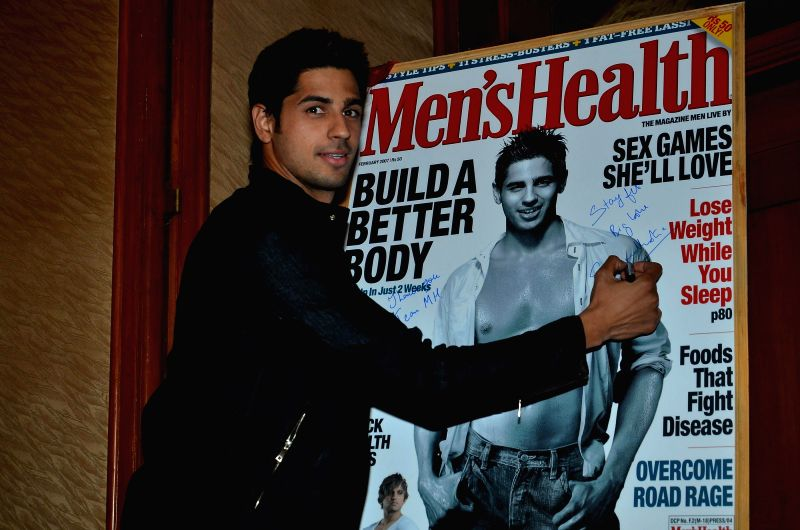 Actor Sidharth Malhotra at Men`s Health magazine cover launch at Orchid in Mumbai on April 12, 2014.