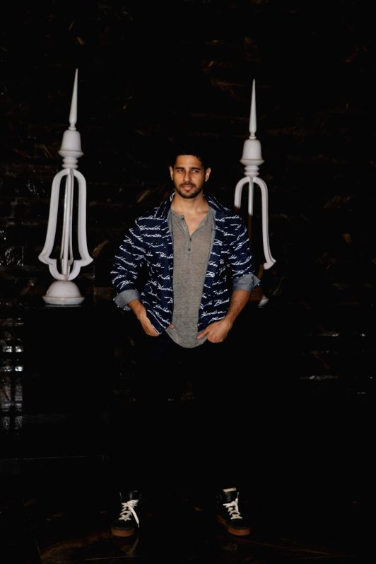 Actor Sidharth Malhotra at the actress Kiara Advani birthday celebration in Mumbai on July 30, 2018. - Sidharth Malhotra and Kiara Advani