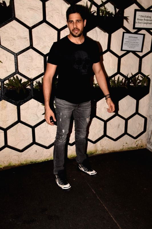 Actor Sidharth Malhotra at the producer Dinesh Vijan birthday celebration in Mumbai on July 26, 2018. - Sidharth Malhotra