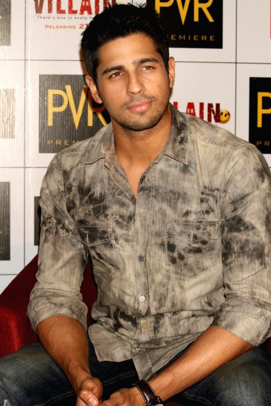 Actor Sidharth Malhotra during a press conference to promote his upcoming film 'Ek Villain' in New Delhi on June 19, 2014. - Sidharth Malhotra