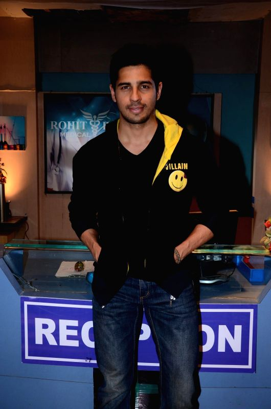 Actor Sidharth Malhotra during the promotion of the film Ek Villain on the sets of television serial Ye Hai Mohabbatein in Mumbai on June 24th, 2014. - Sidharth Malhotra