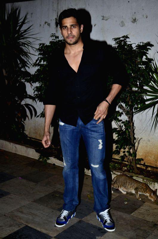Actor Sidharth Malhotra during the success party of the film Ek Villain in Mumbai on 5th July 2014 - Sidharth Malhotra