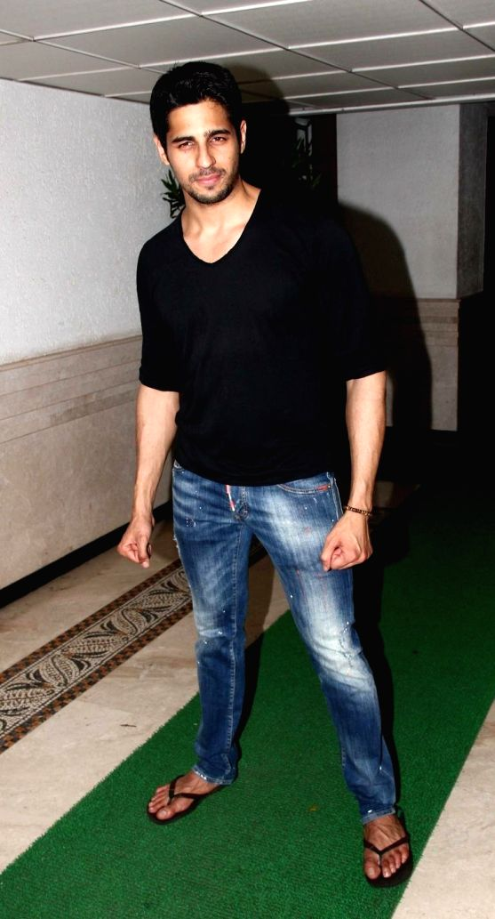 Actor Sidharth Malhotra hosted party for Ek Villain success at his residence in Mumbai on June 28, 2014.