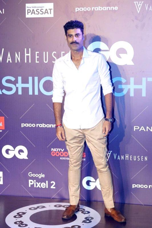 Actor Sikandar Kher during Van Heusen + GQ Fashion Nights 2017 in Mumbai on Nov 11, 2017. - Sikandar Kher