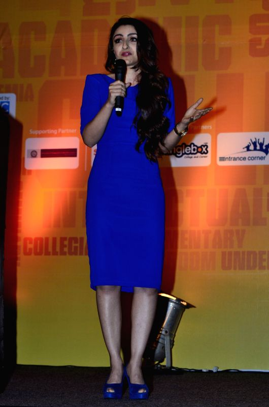 Actor Soha Ali Khan at Education fair launch at BKC in Mumbai, on April 18, 2014.