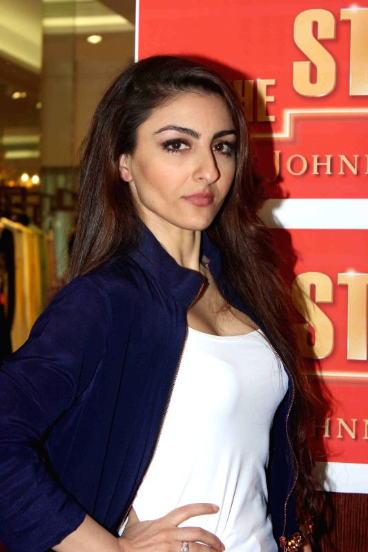 Actor Soha Ali Khan during Johnnie Walker`s digital mentorship program The Step Up in Mumba on March 27, 2015. - Soha Ali Khan