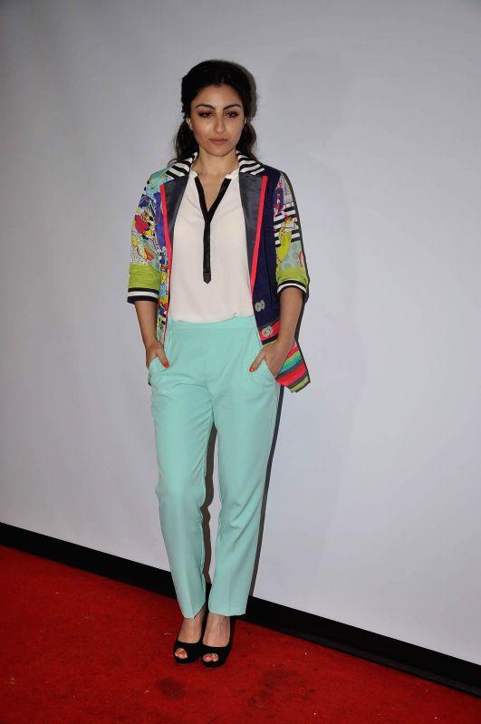 Actor Soha Ali Khan during the promotion launch of upcoming film Chaarfutiya Chhokare in Mumbai on June 18, 2014. - Soha Ali Khan