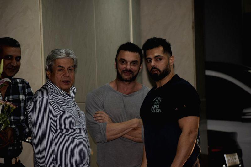 Actor Sohail Khan at the birthday party of his son Nirvaan Khan in Mumbai, on Dec 15, 2018. - Sohail Khan and Nirvaan Khan