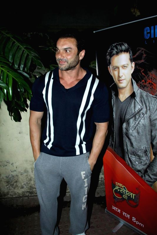 Actor Sohail Khan during the premiere of Star Plus show `Ek Hasina Thi` in Mumbai on Monday, April 14, 2014. - Sohail Khan