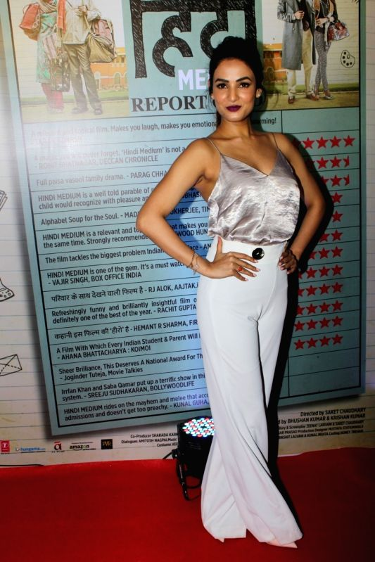 Actor Sonal Chauhan during the success party of film Hindi Medium in Mumbai on May 27, 2017. - Sonal Chauhan