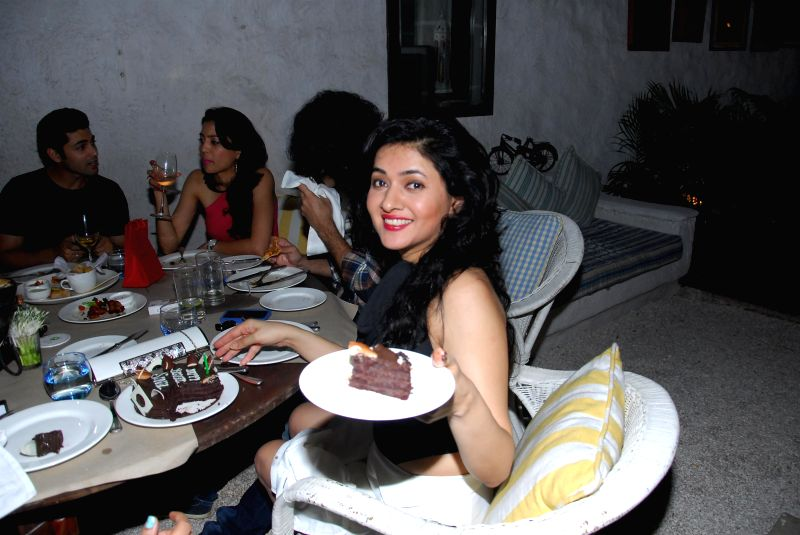 Actor Sonal Sehgal during the her birthday party at Olive Bar & Kitchen in Mumbai on July 12, 2014.