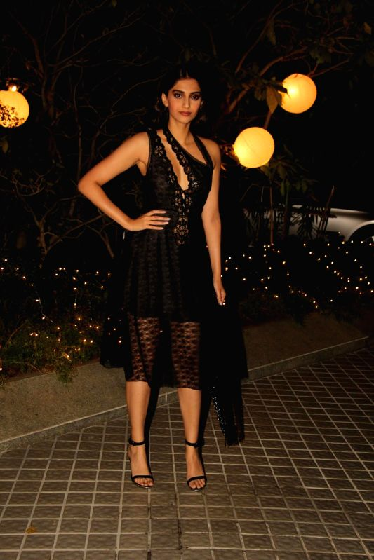 Actor Sonam Kapoor during the birthday party of Farah Khan in Mumbai, on jan. 08, 2015. - Sonam Kapoor