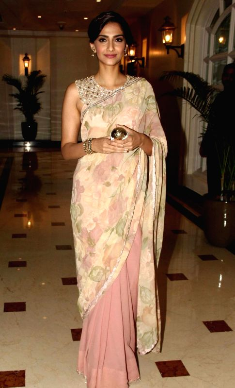 Actor Sonam Kapoor during the designer Rahul Mishra`s bash at Taj Lands End, in Mumbai, on Thursday as he celebrated six years in fashion industry with Grazia. - Sonam Kapoor