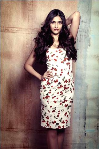 Actor Sonam Kapoor during the exclusive photo shoot.