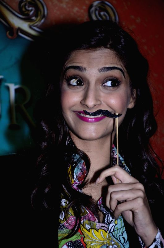Actor Sonam Kapoor promotes her upcoming film Khoobsurat during the Umang 2014 festival in Mumbai on Aug. 16, 2014.