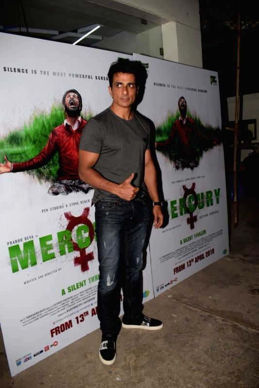 "Actor Sonu Sood at the special screening of film ""Mercury"" in Mumbai on April 12, 2018. - Sonu Sood"