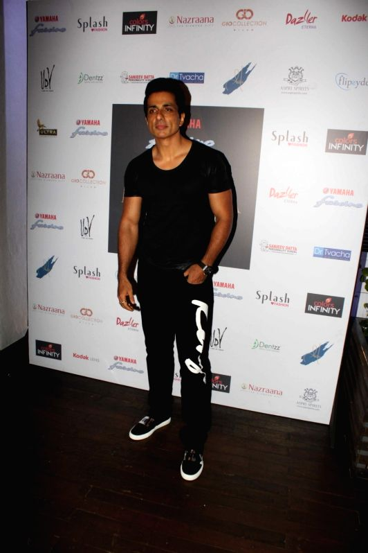 Actor Sonu Sood during the promo launch of Yamaha Fascino Miss Diva 2016, 6-part Television series in Mumbai on August 2016 - Sonu Sood