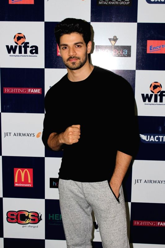 Actor Sooraj Pancholi during the first edition of Super Soccer Tournament (SST) in Mumbai on May 7, 2017. - Sooraj Pancholi