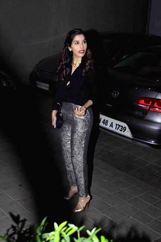 Actor Sophie Choudry during the birthday party of Fashion designer Manish Malhotra in Mumbai, on Dec 6, 2014. - Sophie Choudry