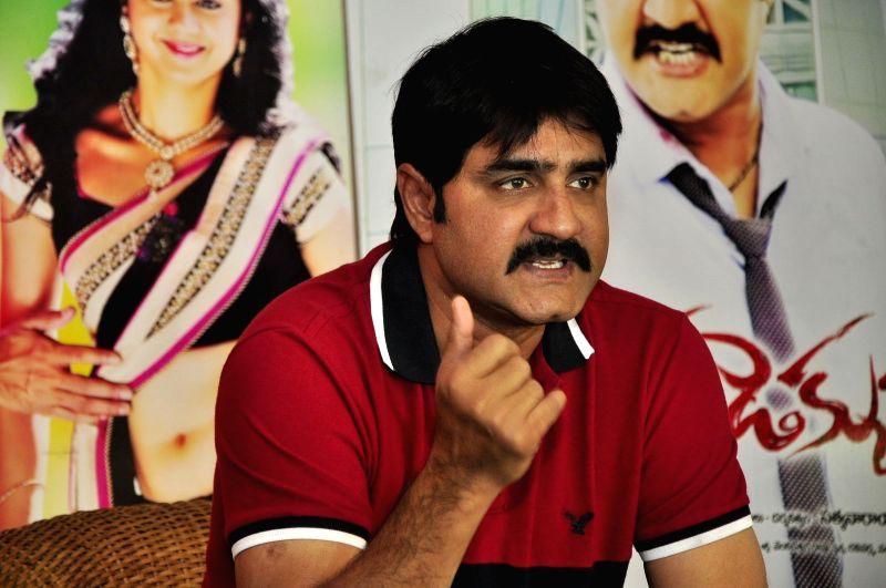 Actor Srikanth during the press meet of Telugu film `Veediki Dookudekkuva`. - Srikanth