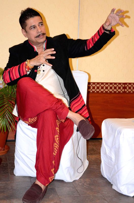 Actor Sudesh Berry during a press conference in Bhopal on Aug 28, 2014.