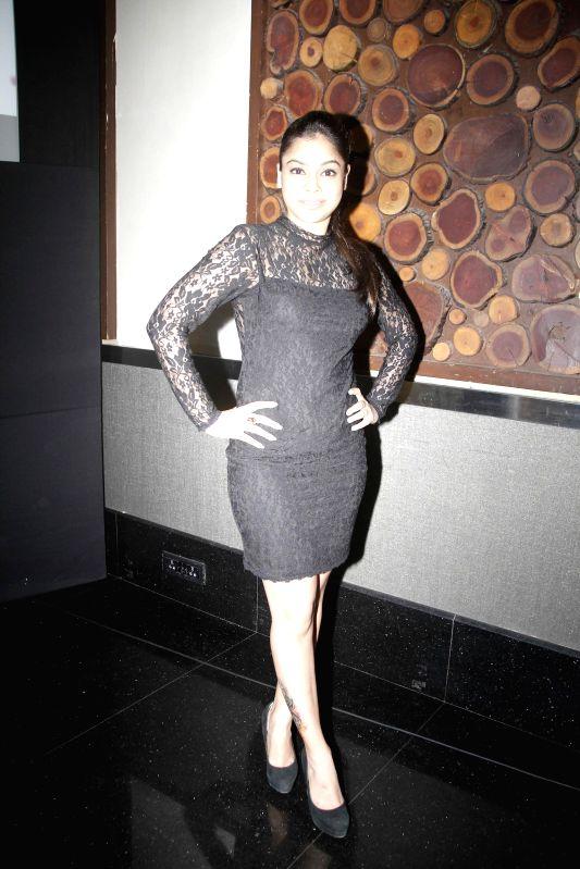 Actor Sumona Chakravarti during the cover launch of Maxim magazine for the September issue in Mumbai on Aug 25, 2014. - Sumona Chakravarti