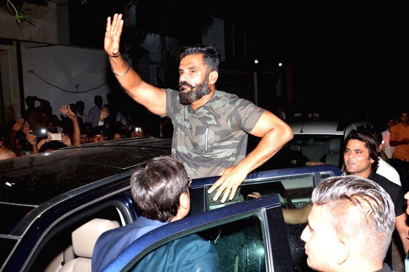 Actor Suniel Shetty during a programme in Jaipur, on June 9, 2017. - Suniel Shetty