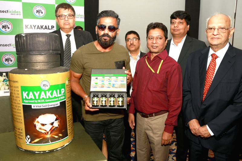 Actor Suniel Shetty during a promotional programme in New Delhi on May 23, 2017. - Suniel Shetty