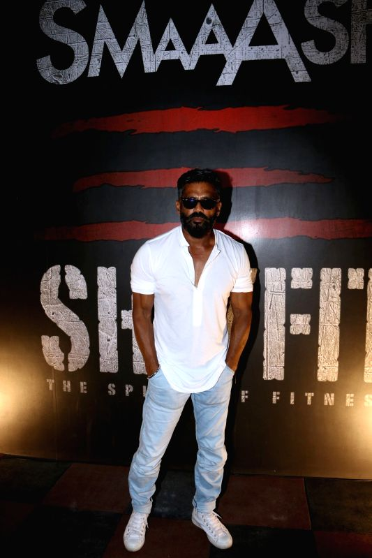 Actor Suniel Shetty during the launch of a gym in Mumbai on May 17, 2017. - Suniel Shetty