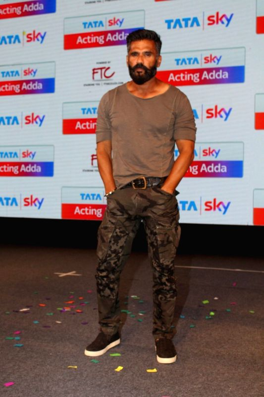 Actor Suniel Shetty during the launch of Tata Sky Acting Adda, in Mumbai, on May 16, 2017. - Suniel Shetty