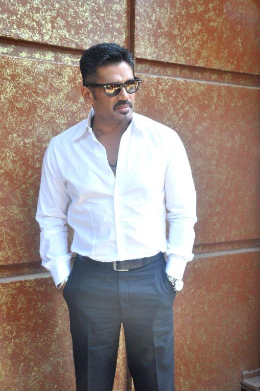Actor Suniel Shetty during the press conference of the film Koyelaanchal in Mumbai on  May 06, 2014 - Suniel Shetty