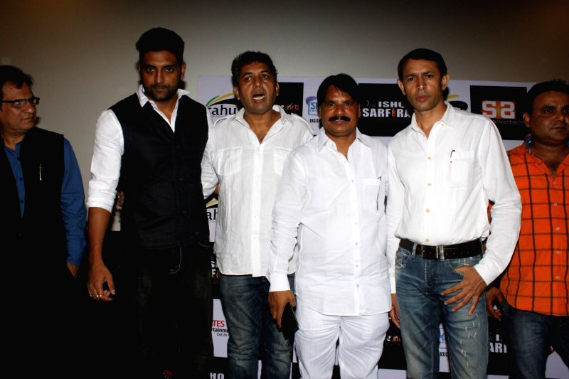 Actor Sunil Pal unveils the trailer and music of film`Yeh Ishq Sarfira` in Mumbai, on Oct 30, 2015.