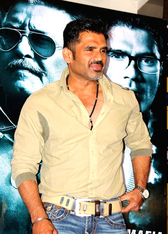 Actor Sunil Shetty during a press conference to promote his upcoming film 'Koyelaanchal' in Jaipur on April 23, 2014. - Sunil Shetty