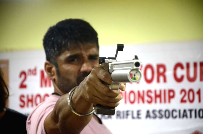 Actor Sunil Shetty during a programme to promote his upcoming film `Desi Kattey` in Mumbai on July 14, 2014. - Sunil Shetty
