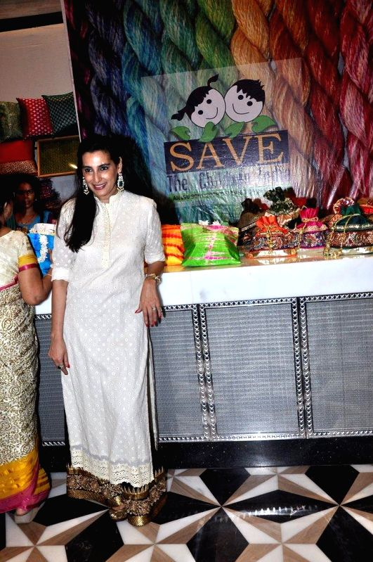 Actor Sunil Shetty`s wife Mana Shetty at her Araaish Exhibition, in Mumbai, on Aug. 26, 2014. - Sunil Shetty