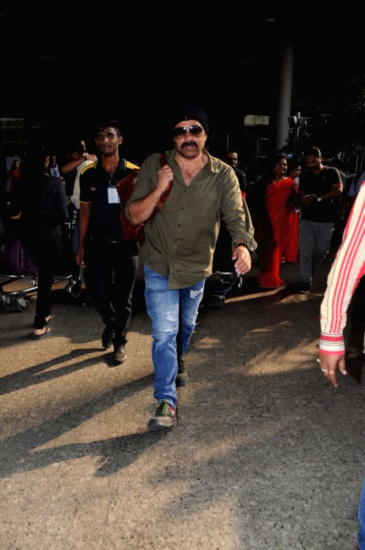 Sunny Deol seen at airport - Sunny Deol