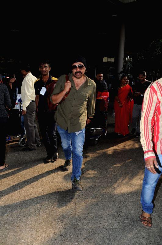 Actor Sunny Deol at Chhatrapati Shivaji Maharaj International airport in Mumbai. - Sunny Deol