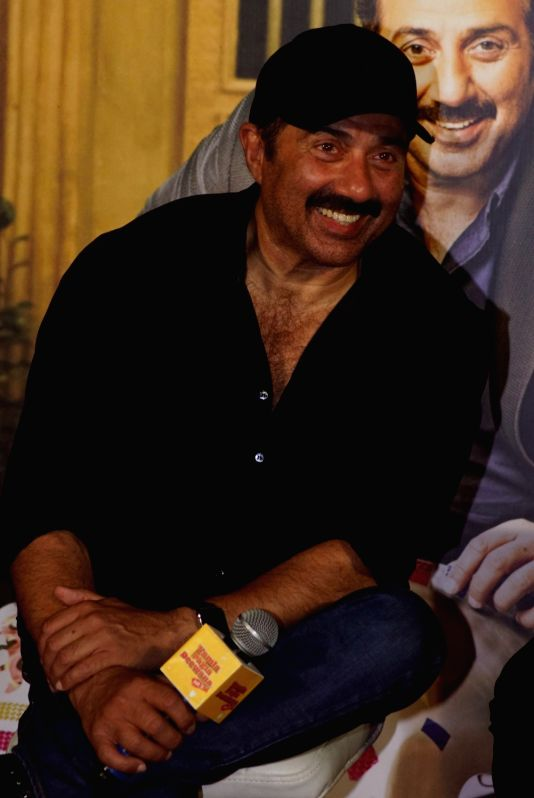 """Actor Sunny Deol at the trailer launch of his upcoming film """"Yamla Pagla Deewana Phir Se"""" in Mumbai on Aug 10, 2018. - Sunny Deol"""