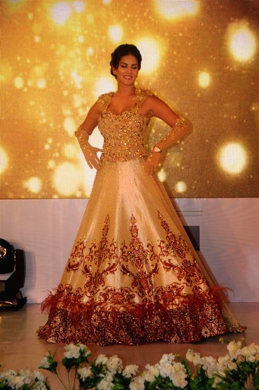 Actor Sunny Leone during the fashion show organised to show case Rohit Verma latest collection in association with Aabhasa Watches in Mumbai on June 23, 2014. - Sunny Leone