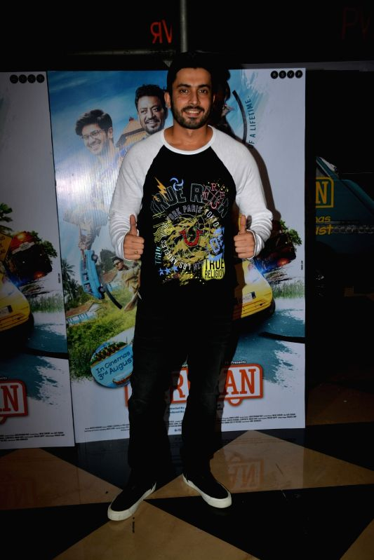 "Actor Sunny Nijar at the special screening of his upcoming film ""Karwaan"", in Mumbai on Aug 2, 2018. - Sunny Nijar"