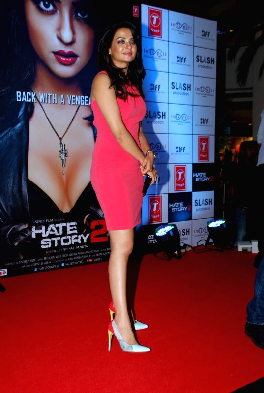 Actor Surveen Chawla during the promotion of film Hate Story 2 in Mumbai on July 12, 2014. - Surveen Chawla