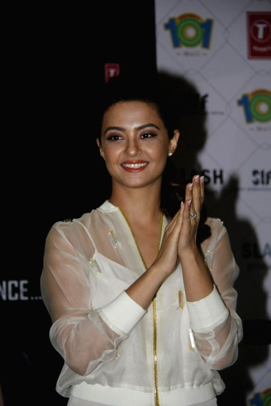 Actor Surveen Chawla during the promotion of film Hate Story 2 in Mumbai on July 13, 2014. - Surveen Chawla