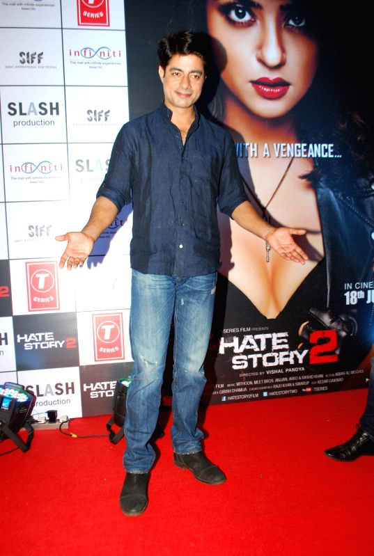 Actor Sushant Singh during the promotion of film Hate Story 2 in Mumbai on July 12, 2014. - Sushant Singh
