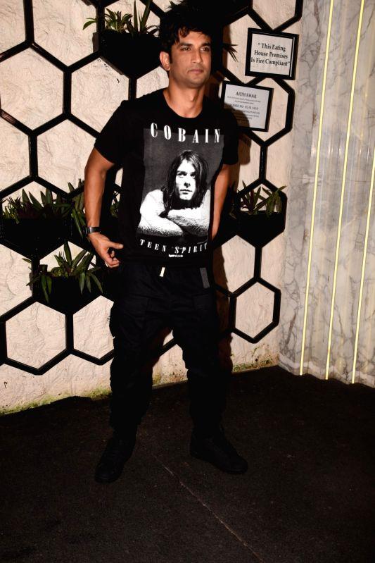Actor Sushant Singh Rajput at the producer Dinesh Vijan birthday celebration in Mumbai on July 26, 2018. - Sushant Singh Rajput