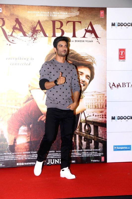 Actor Sushant Singh Rajput during the Trailer launch of film Raabta in Mumbai on April 16, 2017. - Sushant Singh Rajput