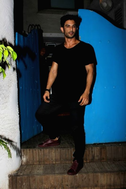 Actor Sushant Singh Rajput meet up with filmmaker Abhishek Kapoor at Olive Bar & Kitchen on June 04, 2017. Sara Ali Khan and Sushant Singh Rajput will be seen in a Abhishek Kapoor`s film ... - Sushant Singh Rajput, Abhishek Kapoor and Sara Ali Khan