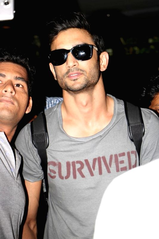 Actor Sushant Singh Rajput were spotted at the Mumbai airport on June 8, 2017. - Sushant Singh Rajput